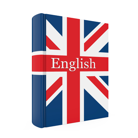 English Dictionary Book Isolated 版權商用圖片