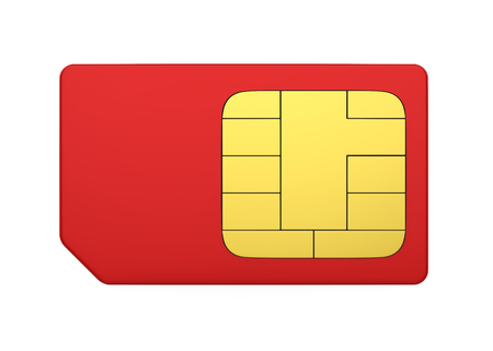 SIM Card Isolated Stock Photo