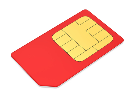 SIM Card Isolated Stock Photo