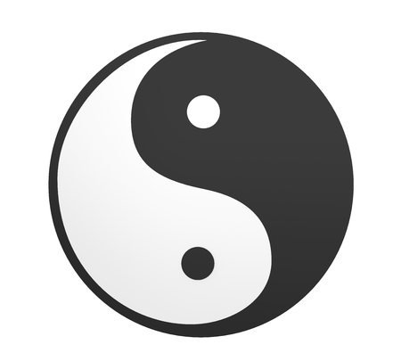 Yin and Yang Symbol Isolated