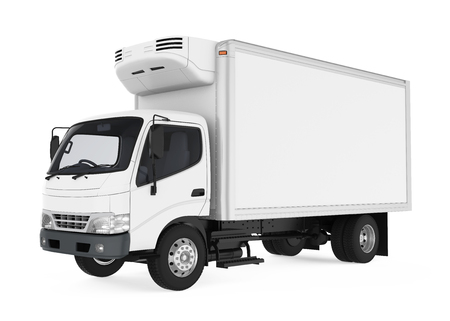 Refrigerated Truck Isolated
