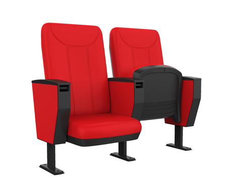 Red Theater Seat Stock Photo - 104518837