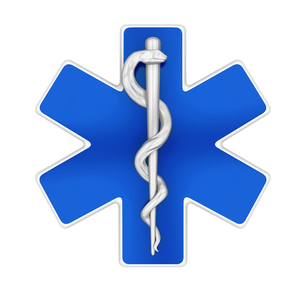 Star of Life Symbol Isolated Stock Photo