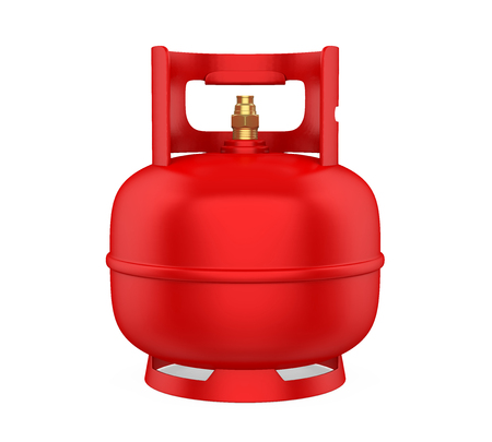 Gas Cylinder Isolated Stock Photo