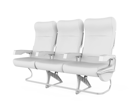 Airplane Seats Isolated