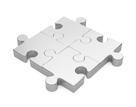 Jigsaw Puzzle Isolated Stok Fotoğraf