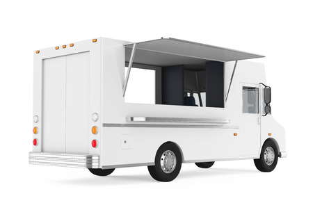 Food Truck Isolated Stock Photo