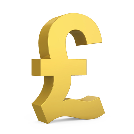Pound Currency Sign Isolated