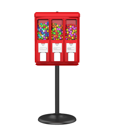Candy Gumball Machine Isolated Banque d'images - 107160834
