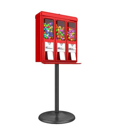 Candy Gumball Machine Isolated Banque d'images - 107160835