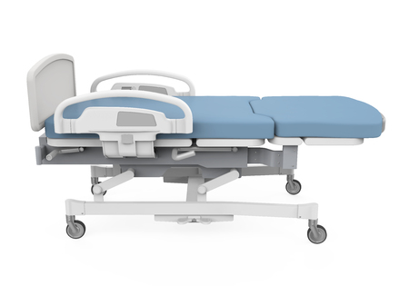 Hospital Bed Isolated