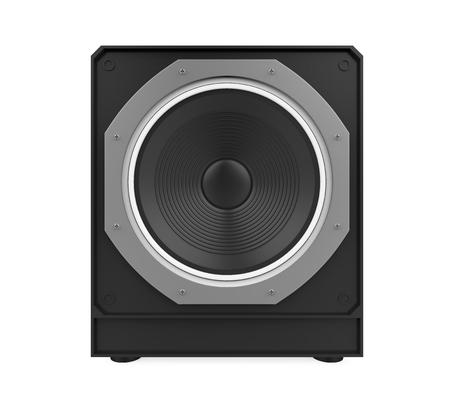 Haut-parleur audio isolé Banque d'images