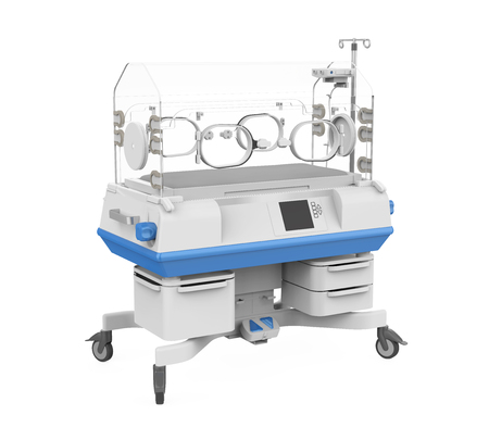 Modern Baby Incubator Isolated