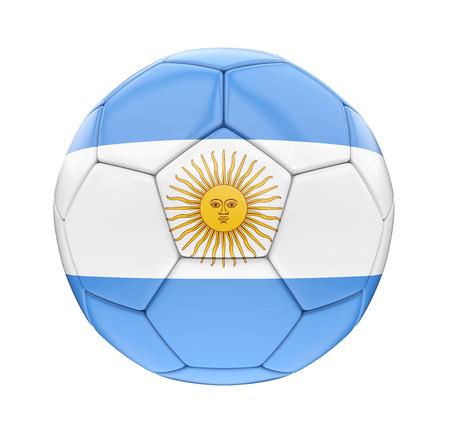 Soccer Ball Argentina Flag Isolated