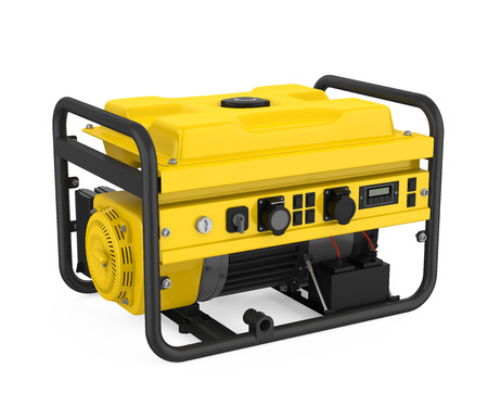 Gasoline Generator Isolated Stockfoto