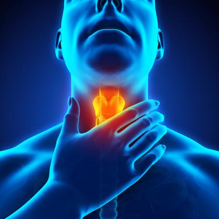 Sore Throat Illustration Foto de archivo