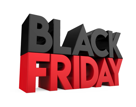 Black Friday Concept Isolated Standard-Bild - 108367836