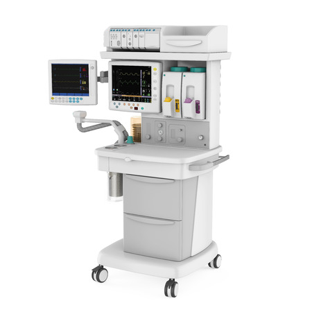 Máquina de anestesia aislada Foto de archivo