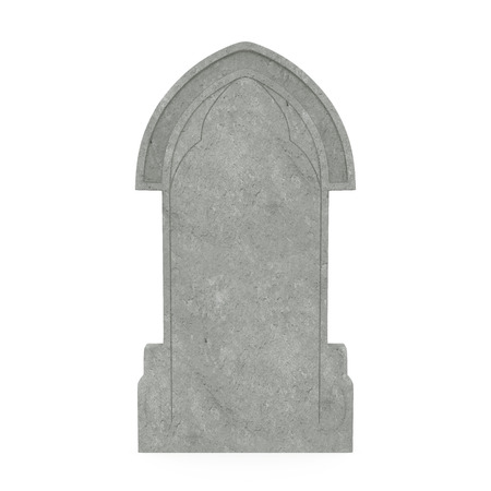 Blank Gravestone Isolated