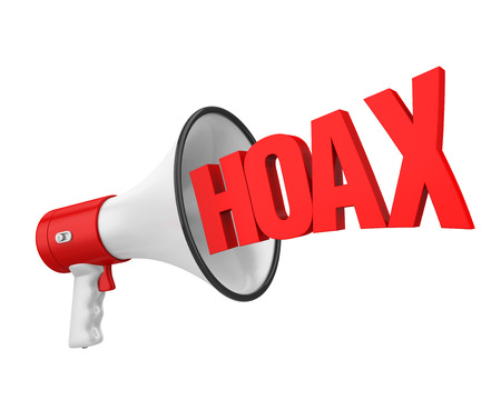 Hoax  Fake News Concept Isolated