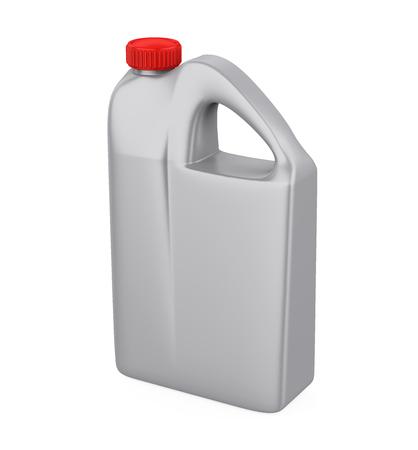 Motor Oil Plastic Bottle Isolated Stock Photo