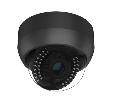 Dome CCTV Security Camera Isolated Stok Fotoğraf