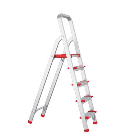 Stufenleiter isoliert Standard-Bild