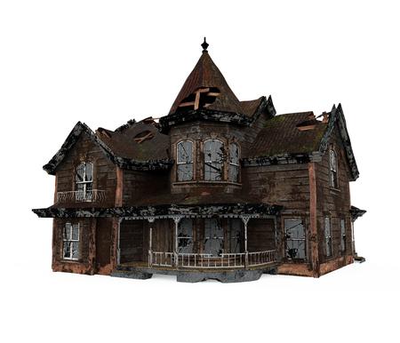 Maison hantée isolée Banque d'images