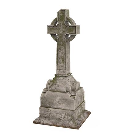Cross Tombstone Isolated