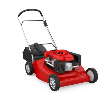 Red Lawn Mower Isolated
