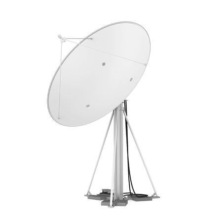 Antenne parabolique isolée Banque d'images