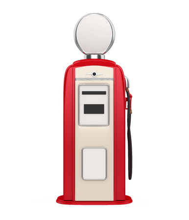 Retro Gas Pump Isolated Stock Photo