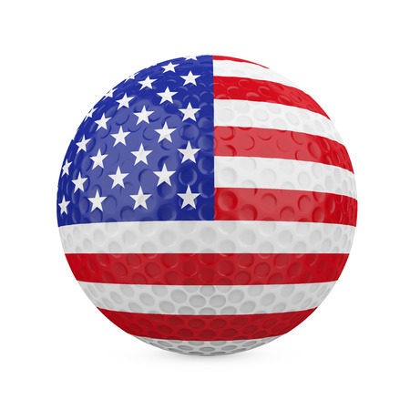 American Golf Ball Isolated