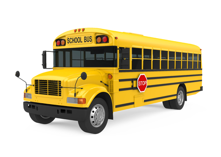 Autobus szkolny na białym tle Zdjęcie Seryjne