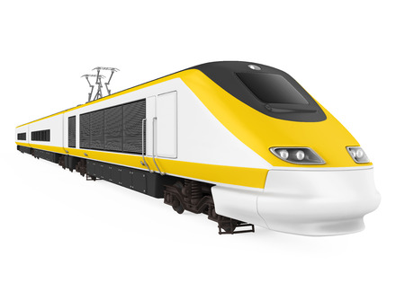 High Speed Train Isolated Imagens - 111336878