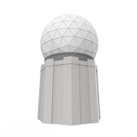 Radar Dome Station Isolated Stock Photo