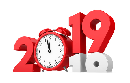 New Year 2019 Concept Isolated Stock Photo