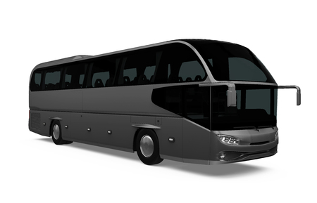 Coach Bus Isolated Banque d'images