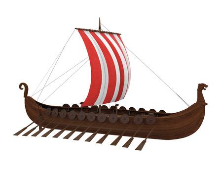 Viking Ship Isolated