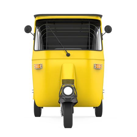 Auto Rickshaw Isolated