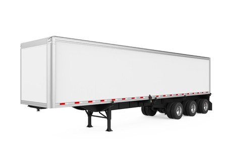 Semi-Trailer Container Isolated