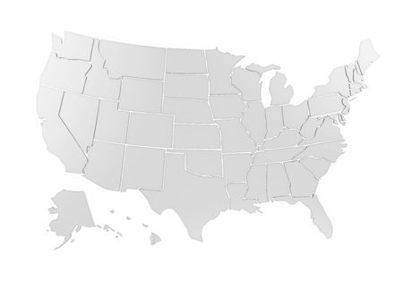United States of America Map Isolated 写真素材