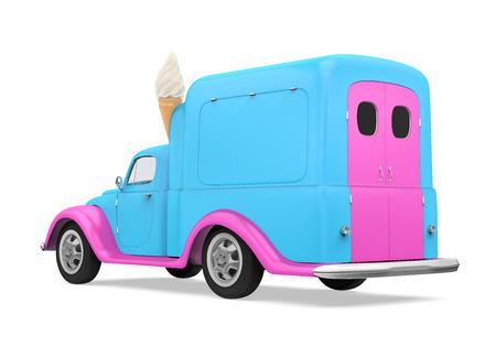 Ice Cream Truck Isolated Stock Photo