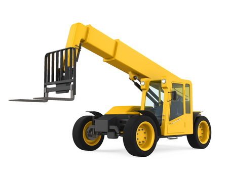 Telescopic Handler Isolated Stock Photo