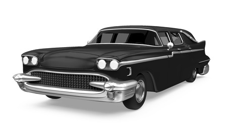 Hearse Car Isolated