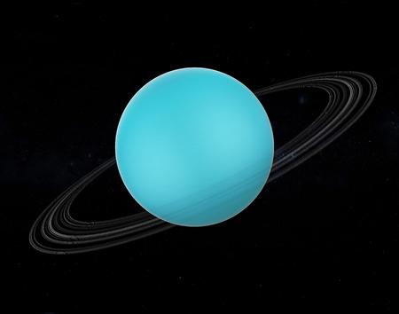 Planet Uranus Isolated Foto de archivo