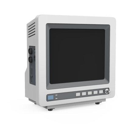 Medical Monitor Isolated Stock Photo