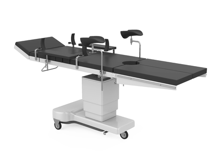 Operating Room Table Isolated