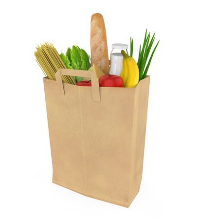 Groceries Bag Isolated