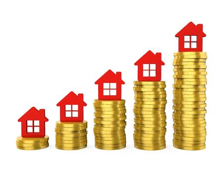 Growth in Real Estate Illustration Stok Fotoğraf - 114030840